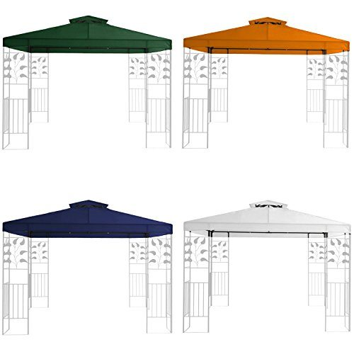 Miganeo Ersatzdach 3x3 m Partyzelt Gazebo Pavillion Dach Pavillon Pavilliondach weiss, blau, grün, orange