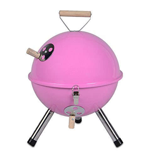 Mini Grill Kugelgrill Holzkohlegrill für Garten Terrasse Camping Festival Picknick BBQ Barbecue  Ø 30 cm