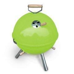 Mini Kugelgrill BBQ Grill grün Holzkohlegrill Camping Garten Kohle Gartenausstattung von Jet-Line