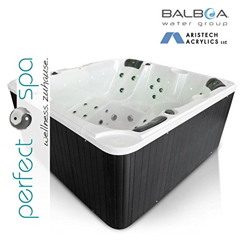 NEU Whirlpool Daytona Beach Premium Lightning Jets Outdoor 5 Personen Hot Tub Aussenwhirlpool SPA 54 Düsen LED- Düsenlicht