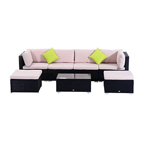 Outsunny Polyrattan Gartenmöbel 21tlg Rattan Gartenset Sitzgruppe Loungeset Loungemöbel Gartengarnitur