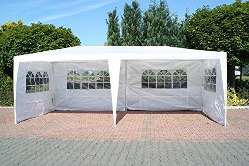 Partyzelt mit Seitenteilen weiss 3 x 6 m Pavillon Pavillion