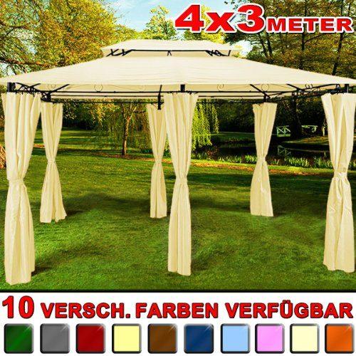 Pavillon 4x3 m - Gartenzelt Zelt Festzelt in verschiedenen Farben