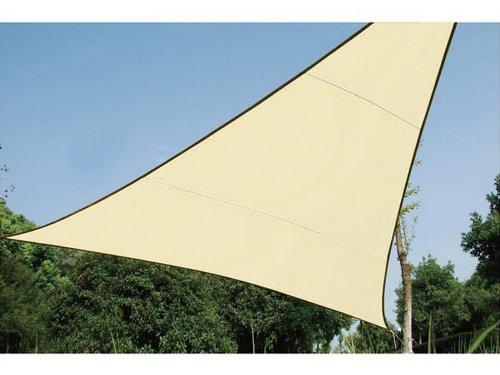 Perel Dreieckiges sonnensegel - 3.6 x 3.6m, cremefarbe