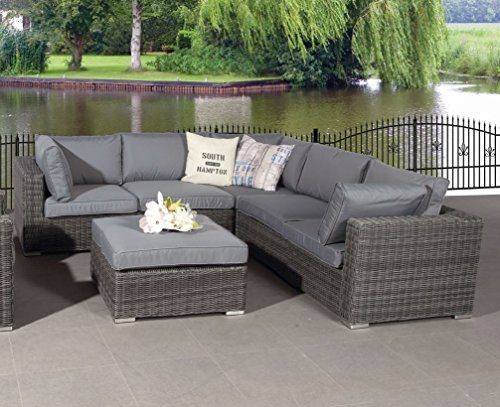 "Poly Rattan Lounge ""Rubinia Earl Grey"" mit absolut wetterfesten Kissen, Easy Does It, Garden Impressions"