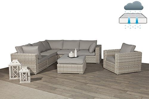 "Poly Rattan Lounge ""Rubinia Passion Willow"" mit absolut wetterfesten Kissen, Easy Does It, Garden Impressions"