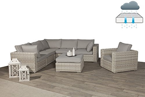 poly rattan lounge rubinia passion willow mit absolut wetterfesten kissen easy does it. Black Bedroom Furniture Sets. Home Design Ideas