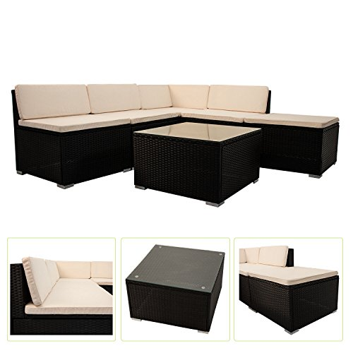 Polyrattan Gartenmöbel Lounge Sitzgruppe South Beach