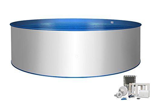 Pool Basic Rundform Ø 3,50m x 1,20m 0,8mm Folie & 0,6mm Stahlmantel mit Skimmer