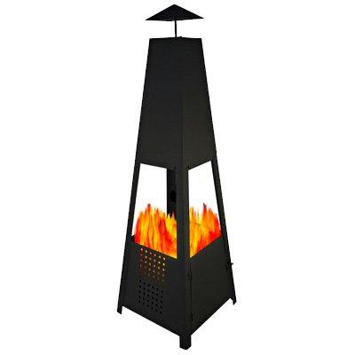 Pyramiden Gartenkamin Feuerkorb Schwarz 100cm