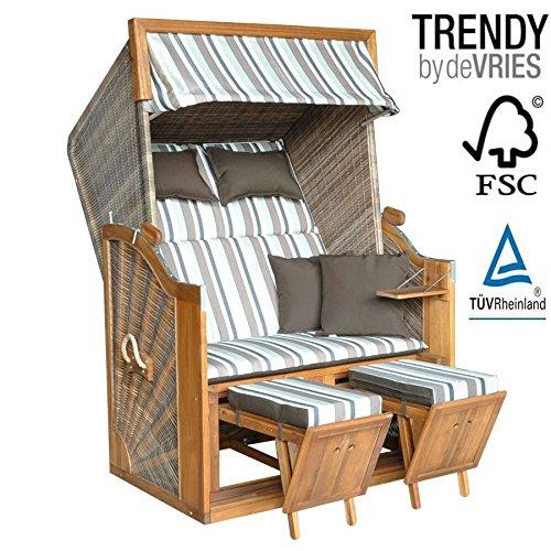 strandkorb devries trendy pure greenline 120 dessin whlbar 0 m bel24 gartenm bel. Black Bedroom Furniture Sets. Home Design Ideas