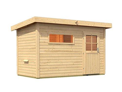 Sauna für den Außenbereich Rauma 1 mit Vorraum 337cm x 196cm x 228cm inkl. Zubehörset 9kW Saunaofen
