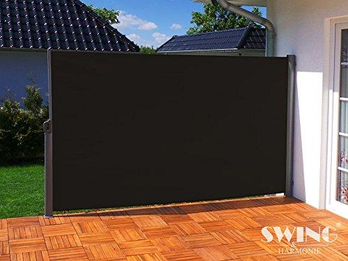 seitenmarkise sichtschutz aluminium seitenrollo markise. Black Bedroom Furniture Sets. Home Design Ideas