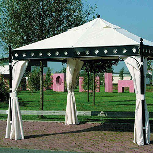 Siena Garden 661513 Seitenteile-Set zu Pavillon Korfu, 3,5x3,5m Polyester 160g/m² natur