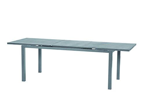 aluminium gartentisch ausziehbar mit polywood tischplatte ausziehtisch 280 220x95cm. Black Bedroom Furniture Sets. Home Design Ideas