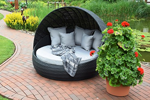 sonneninsel polyrattan rattan wt 6001 lounge wellness schwarz festes dach m bel24 gartenm bel. Black Bedroom Furniture Sets. Home Design Ideas