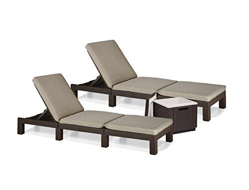 sonnenliege gartenliege 2er set allibert daytona polyrattan rattanoptik k hlbox ice cube braun. Black Bedroom Furniture Sets. Home Design Ideas