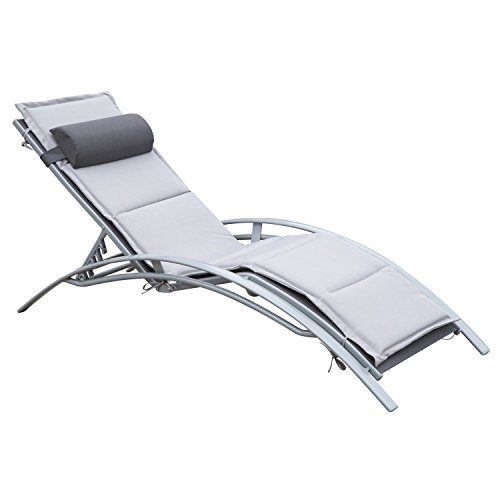 Sonnenliege Gartenliege Gartenstuhl Relaxsessel Liegestuhl Alu verstellbar