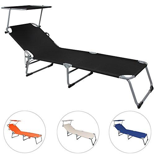 sonnenliege hawaii mit verstellbarem sonnendach gartenliege freizeitliege strandliege liege. Black Bedroom Furniture Sets. Home Design Ideas