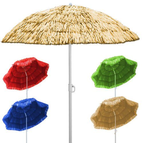 Sonnenschirm Hawaii Sonnenschutz Ø 160 cm Gartenschirm Neigefunktion Höhenverstellbar - verschiedene Farben