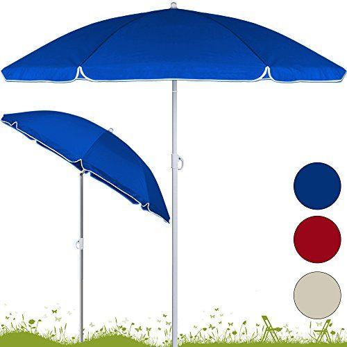 Sonnenschirm höhenverstellbar mit Neigefunktion 180cm - 200cm - Strandschirm Marktschirm Gartenschirm
