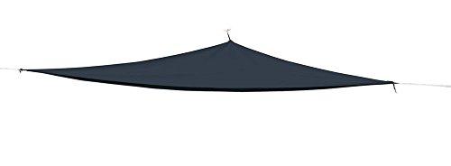 Sonnensegel/Dekosegel dreieckig (3x3x3m) windbeständig wasserabweisend incl. Abspannseile- Anthrazit