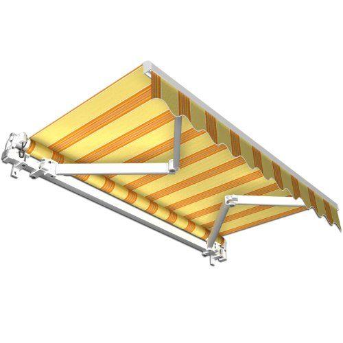 Stabile Aluminium Markise - Alu Gelenkarmmarkise - Markisen f. Terrasse, Garten o. Balkon - TÜV geprüft