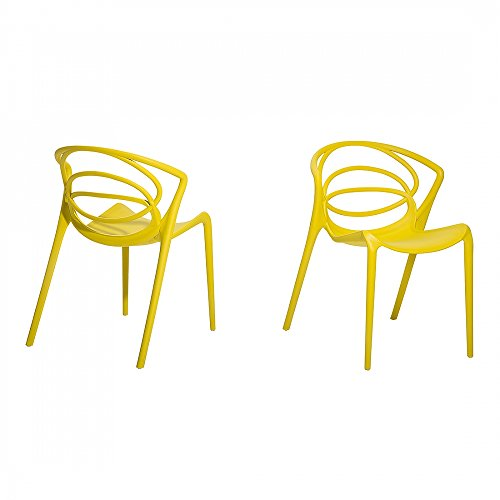 Stuhl Gelb - Esszimmerstuhl - Gartenstuhl - Küchenstuhl - Essstuhl - BEND