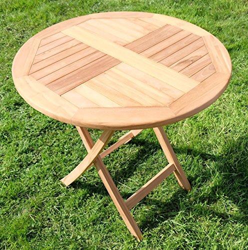 teak klapptisch holztisch gartentisch garten tisch rund 80cm coamo holz von as s 0 m bel24. Black Bedroom Furniture Sets. Home Design Ideas