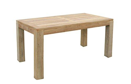 teak holz tisch rechteckig mit quadratischen eckbeinen 220x100x75cm m bel24 gartenm bel. Black Bedroom Furniture Sets. Home Design Ideas