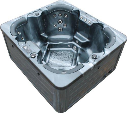 Vasa-Fit, Whirlpool W180, Whirlpool aus hochwertigem Sanitäracryl für 4 Personen in SkyBlack