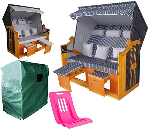 wohnwerk xxl strandkorb modell seestern komplettset mit gratiszugabe m bel24 gartenm bel. Black Bedroom Furniture Sets. Home Design Ideas