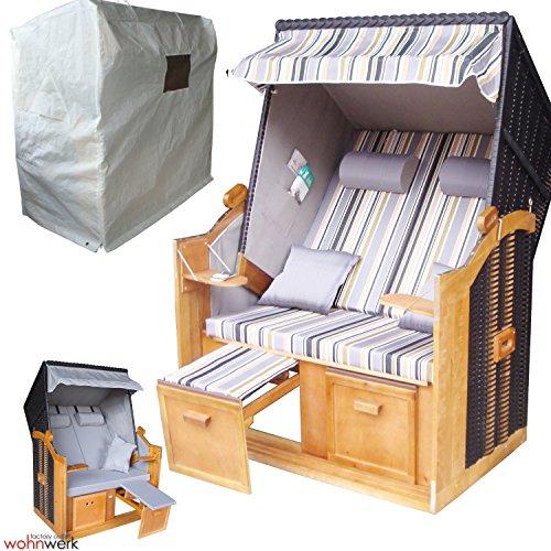 wohnwerk zweisitzer strandkorb modell ostsee de luxe nur. Black Bedroom Furniture Sets. Home Design Ideas