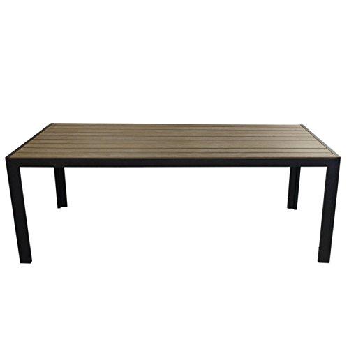 Xxl gartentisch aluminiumrahmen schwarz polywood - Xxl gartentisch ...