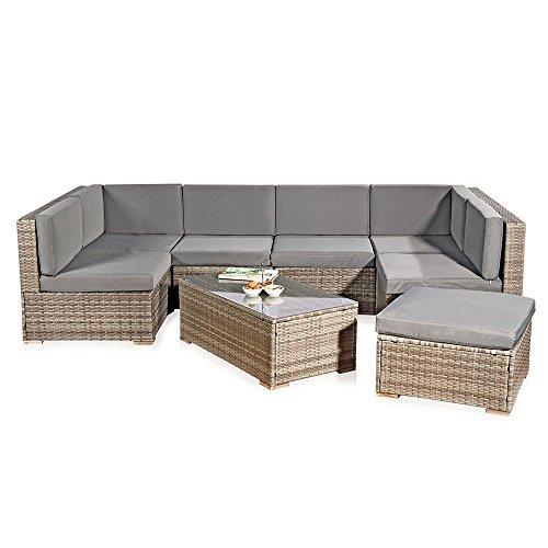 xxl rattanmbel gartenset grau aus polyrattan lounge gartenmbel sitzgruppe 0 gartenm bel online. Black Bedroom Furniture Sets. Home Design Ideas