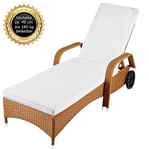 xxl sonnenliege aus poly rattan liege bis 160 kg belastbar modell 2016 toscana f r. Black Bedroom Furniture Sets. Home Design Ideas