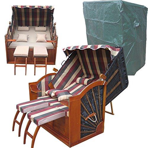 bereits montiert strandkorb devries pure greenline 170 xl dessin 702 fsc zertifiziert. Black Bedroom Furniture Sets. Home Design Ideas