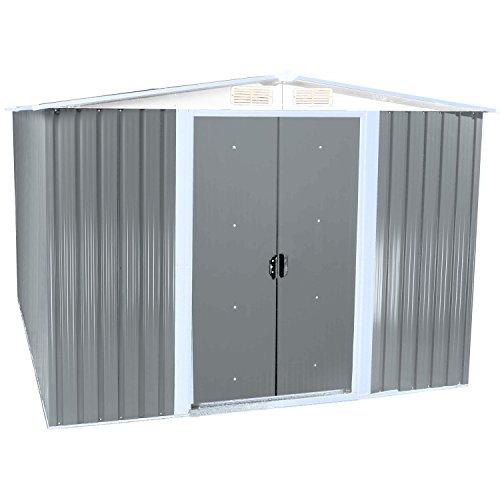 zelsius ger tehaus ger teschuppen mit giebeldach 2 m x 2 5 m hellgrau m bel24 gartenm bel. Black Bedroom Furniture Sets. Home Design Ideas