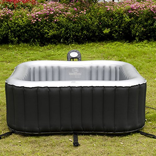 aufblasbarer whirlpool jacuzzi mit heizfunktion bis 42 c selbstaufblasend in und outdoor. Black Bedroom Furniture Sets. Home Design Ideas