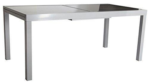 baumarkt direkt gartentisch amalfi ausziehbar aluminium 90 cm 120 180 cm silberfarben. Black Bedroom Furniture Sets. Home Design Ideas
