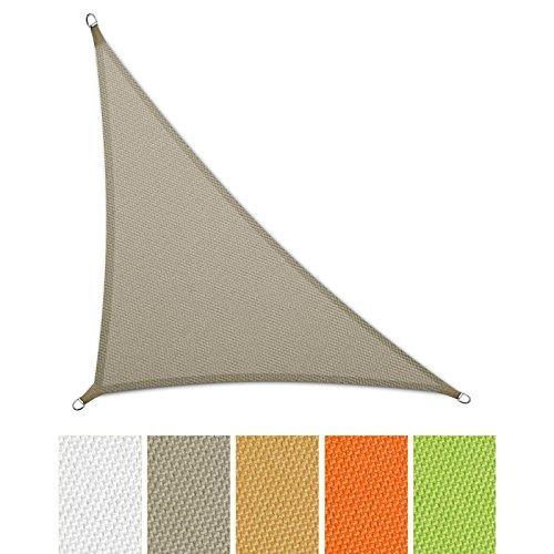 casa pura® Sonnensegel wasserabweisend imprägniert | Dreieck | UV Schutz | verschiedene Farben und Größen