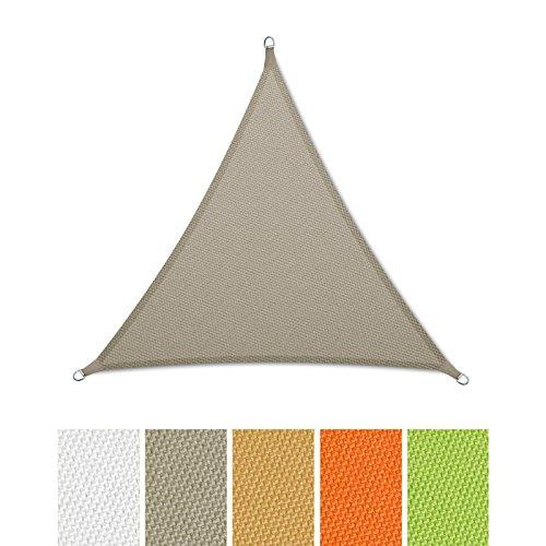 casa pura® Sonnensegel wasserabweisend imprägniert | Dreieck gleichseitig | UV Schutz | verschiedene Farben und Größen