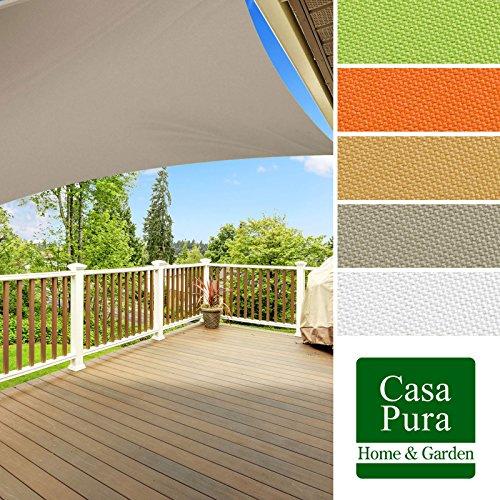 casa pura® Sonnensegel wasserabweisend imprägniert | quadratisch, 3x3m | UV Schutz | viele Farben