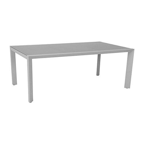 greemotion outdoor esstisch wei stockholm in zwei gren erhltlich gartentisch alu mit glasplatte. Black Bedroom Furniture Sets. Home Design Ideas