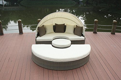 talfa Polyrattan Loungemöbel Set Big Moon - weiß