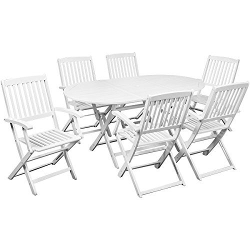 vidaXL Holz Sitzgruppe Sitzgarnitur Gartenmöbel Set Klapptisch Klappstuhl Akazienholz