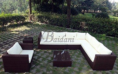 baidani rattan garten lounge garnitur destiny braun meliert m bel24 gartenm bel. Black Bedroom Furniture Sets. Home Design Ideas