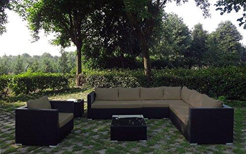 baidani rattan garten lounge garnitur destiny schwarz gartenm bel. Black Bedroom Furniture Sets. Home Design Ideas