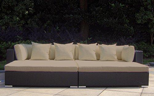 Baidani rattan garten lounge garnitur paradise schwarz for Garten lounge garnitur