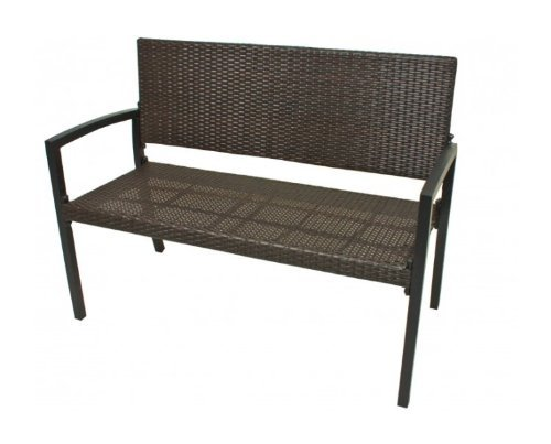 garden pleasure garten rattan bank parkbank san remo 2 sitzer sitzbank braun 0 m bel24 gartenm bel. Black Bedroom Furniture Sets. Home Design Ideas